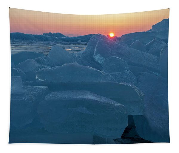 Mackinaw City Ice Formations 21618013 Tapestry