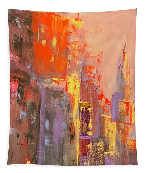 Manhattan Sunset Tapestry