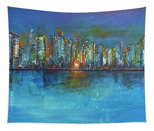 Manhattan Twilight  Tapestry