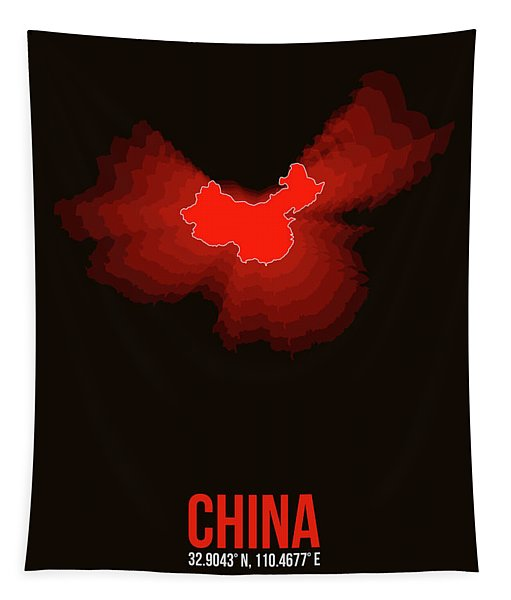 Map Of China Tapestry
