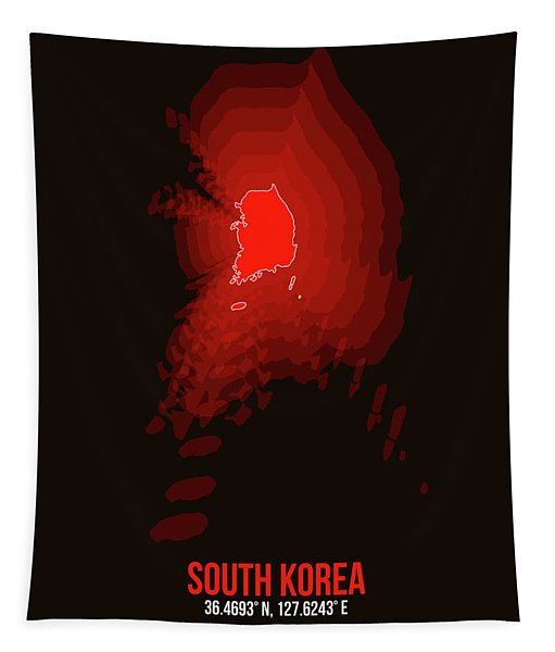 Map Of South Korea Tapestry