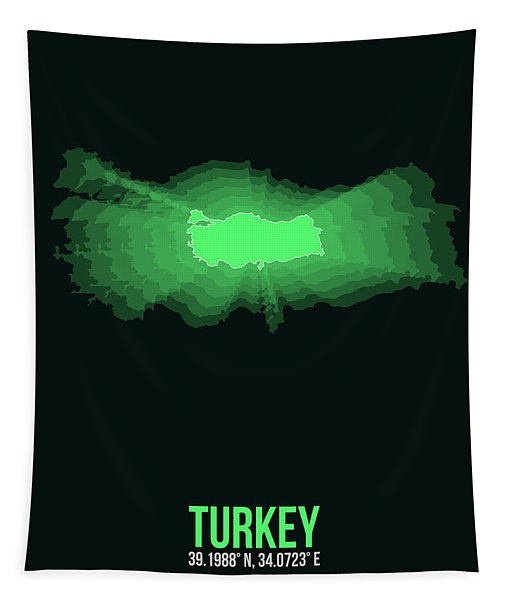 Map Of Turkey 2 Tapestry