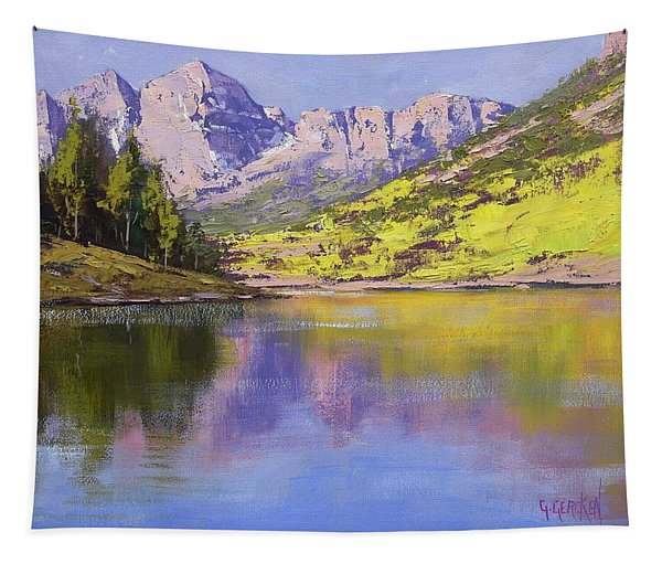 Maroon Bells Reflections Tapestry