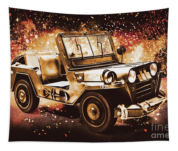 Military Machine Tapestry