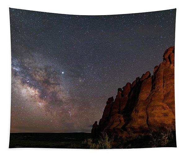 Milky Way At Navajo Rocks 2 Tapestry