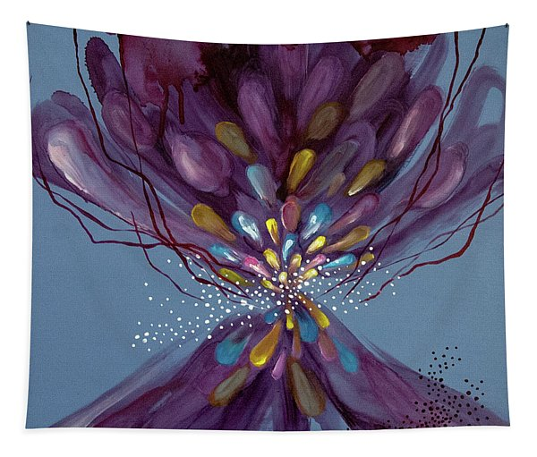 Tapestry featuring the painting Mind #06 by Natsumi Yamaguchi