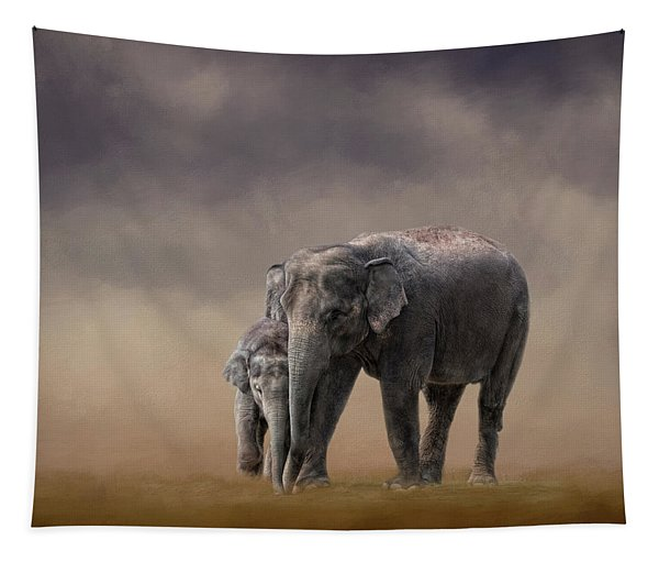 Mother And Son Tapestry