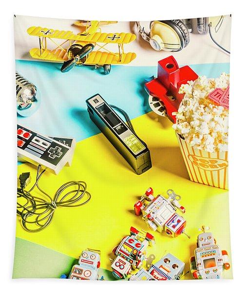 Multicolour Memorabilia Tapestry