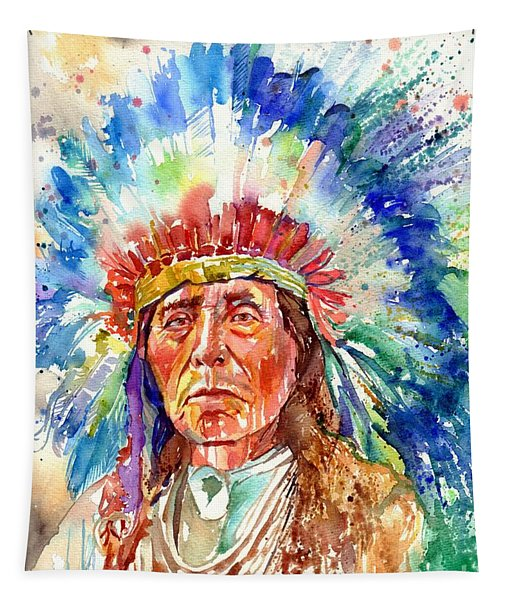 Native American Chief Tapestry