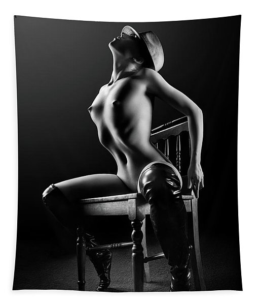 Nude Woman On Chair 2 Tapestry