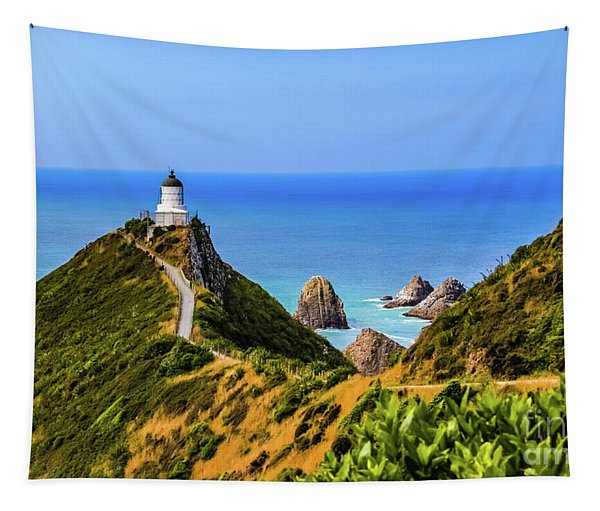 Nugget Point Lighthouse, New Zealand Tapestry