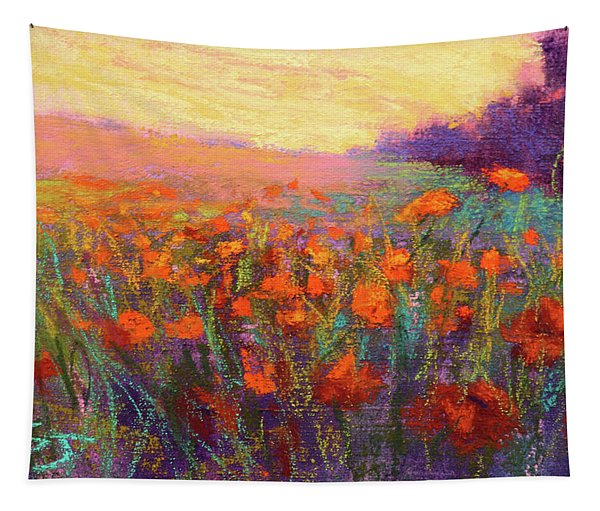 Orange Embrace Tapestry