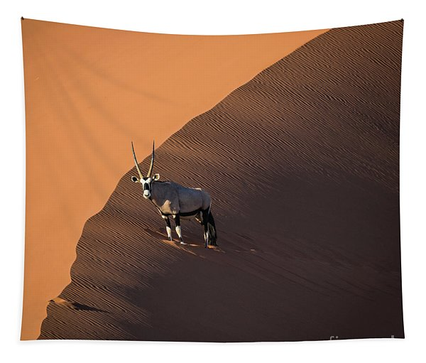 Oryx On The Edge, Namibia Tapestry
