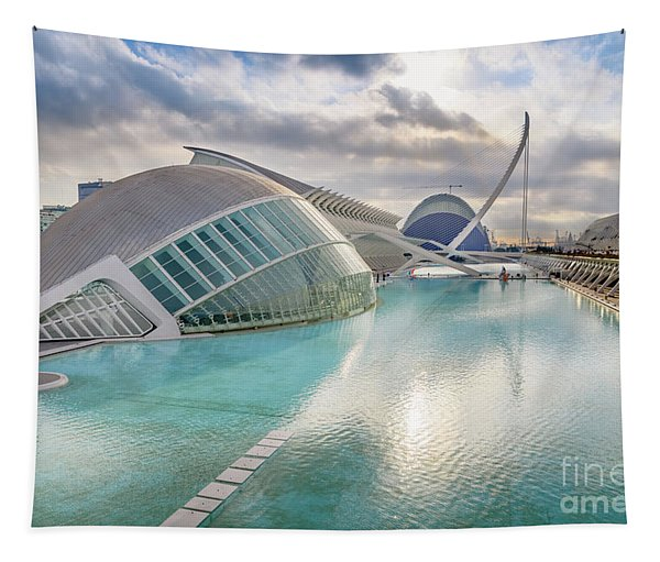 Panoramic Cinema In The City Of Sciences Of Valencia, Spain, Vis Tapestry