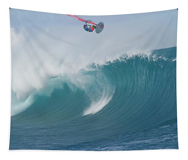 Person Windsurfing In The Ocean Tapestry