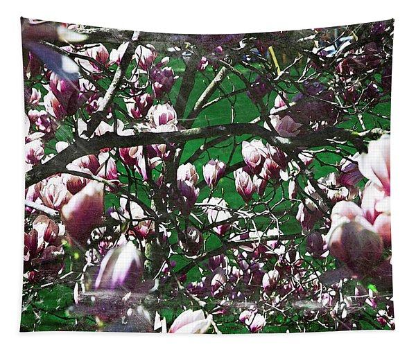 Pink Bush Tapestry