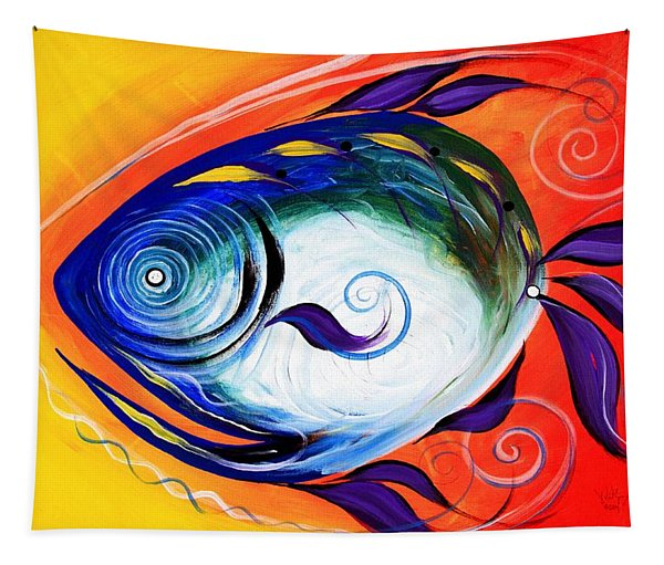 Positive Fish Tapestry
