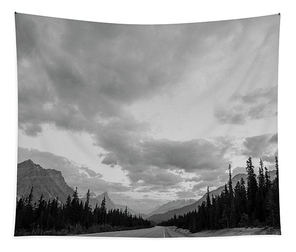 Road Passing Through Banff National Tapestry