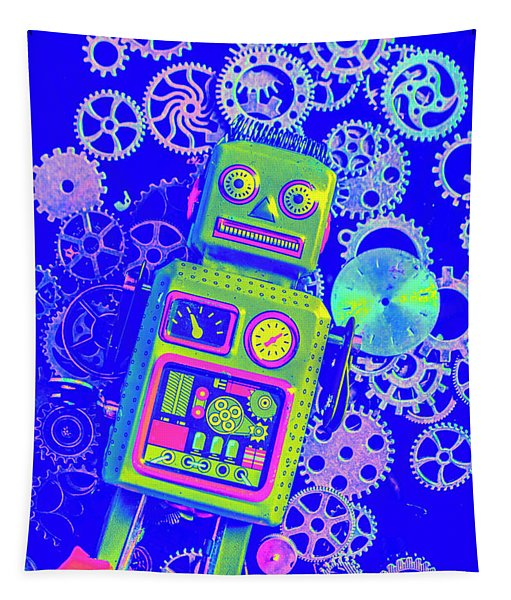 Robot Reboot Tapestry