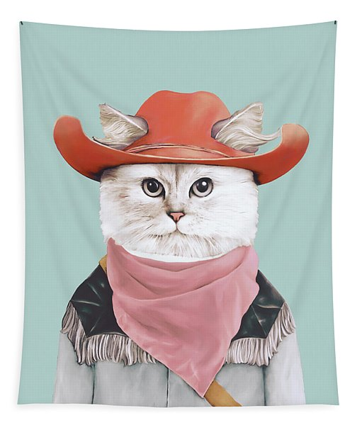 Rodeo Cat Tapestry