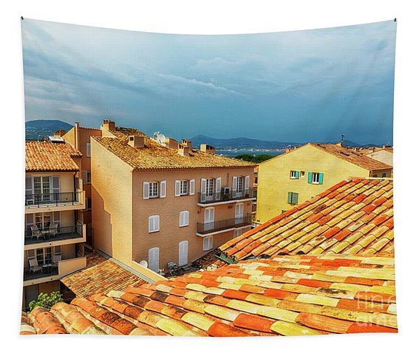 roofs of San Tropez Tapestry