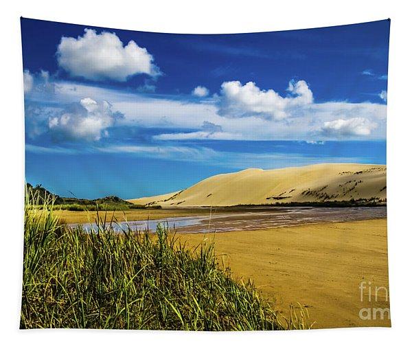 90 Miles Beach, New Zealand Tapestry