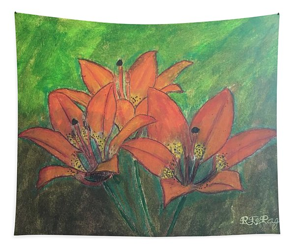 Saskatchewan Western Red Lily Tapestry