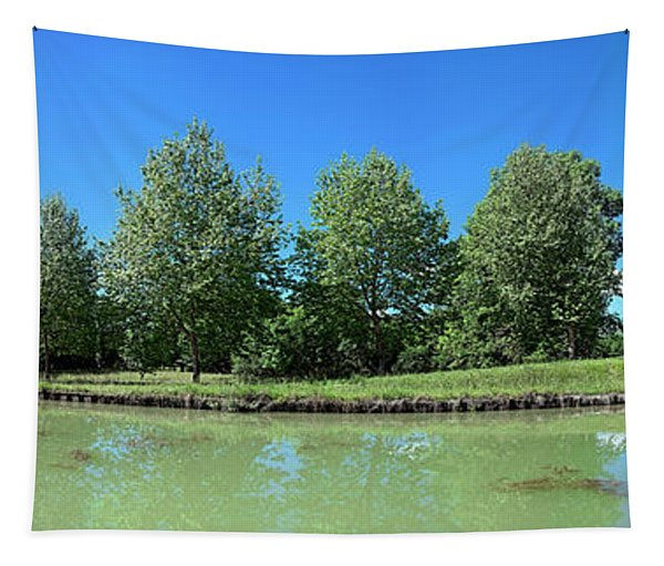 Scenic View Of Burgundy Canal Tapestry
