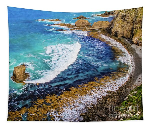 Roaring Bay At Nugget Point Tapestry
