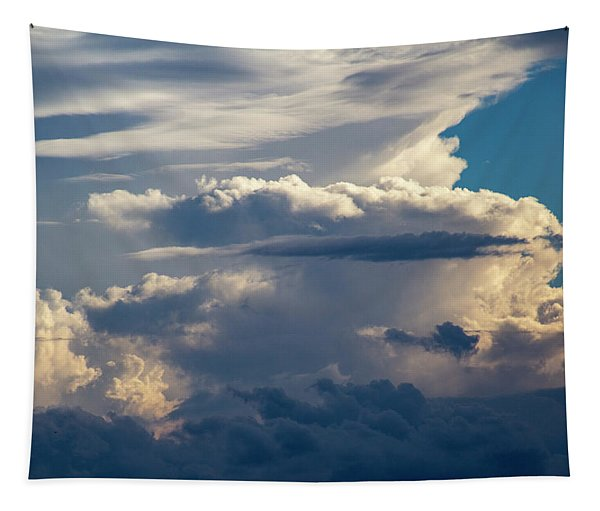 Tapestry featuring the photograph September Storm Chasing 015 by NebraskaSC