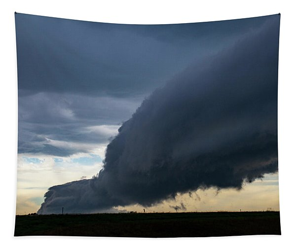 Tapestry featuring the photograph September Thunderstorms 003 by NebraskaSC