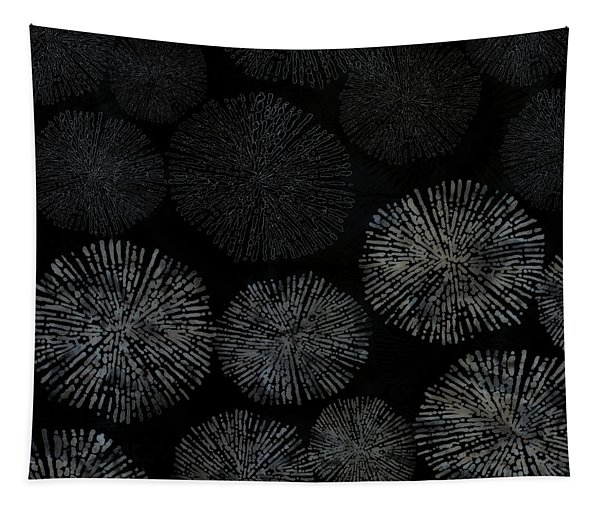 Shibori Sea Urchin Burst Pattern Tapestry
