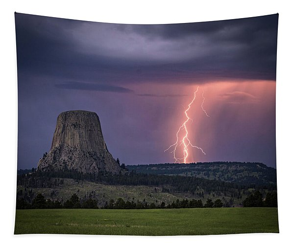 Showers And Lightning Tapestry