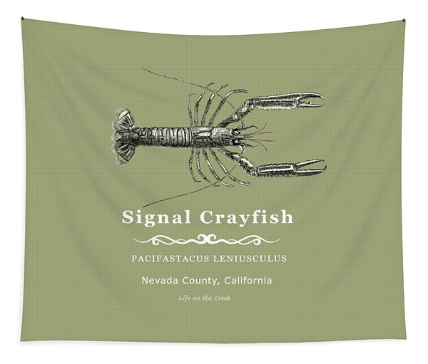 Signal Crayfish Tapestry