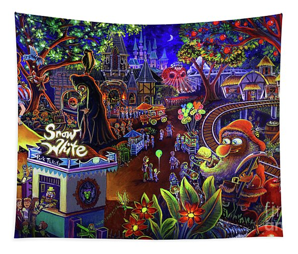 Snow White Amusement Park Tapestry