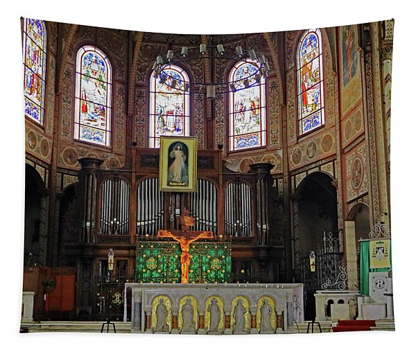 St Louis Cathedral Interior Tapestry