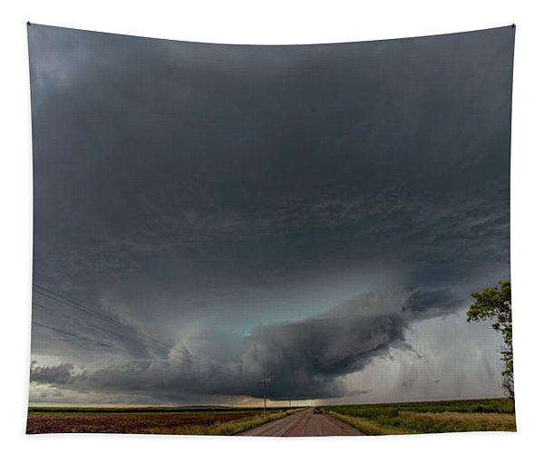 Tapestry featuring the photograph Storm Chasin In Nader Alley 008 by NebraskaSC