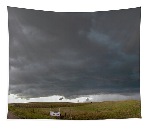 Tapestry featuring the photograph Storm Chasin In Nader Alley 016 by NebraskaSC