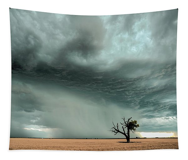 Strong Lone Tree Tapestry