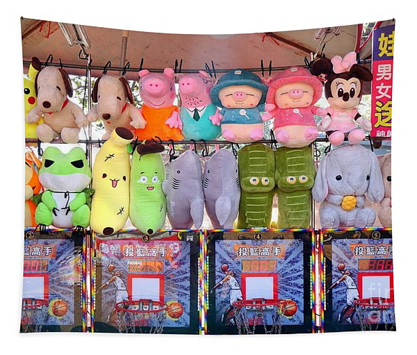 Stuffed Animals And Cartoon Characters Tapestry