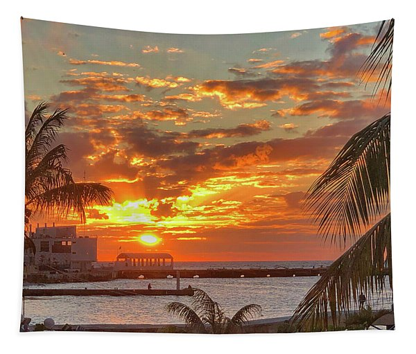 Sun Is Setting Tapestry