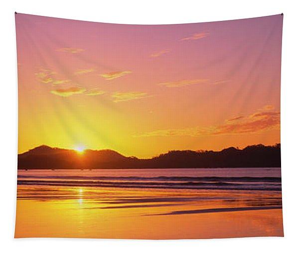 Sunrise Over Hills, Samara Beach Tapestry