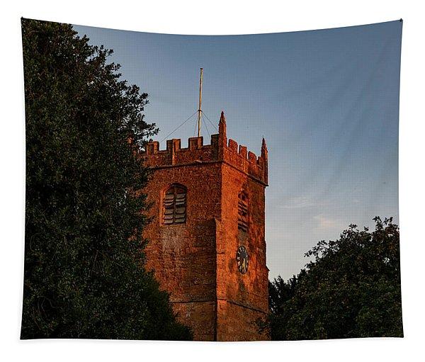 Sunset Church Tapestry