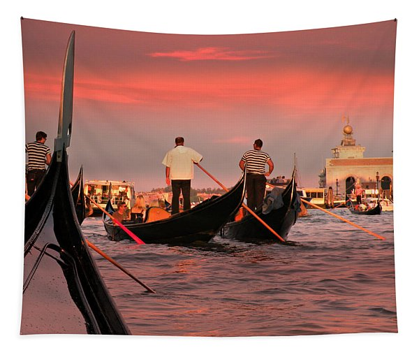 Sunset Gondolas  Tapestry
