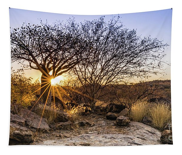 Sunset In The Erongo Bush Tapestry