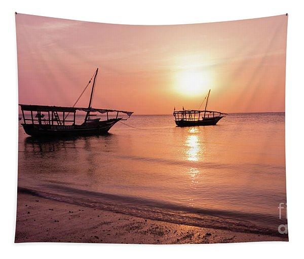 Sunset In Zanzibar Tapestry