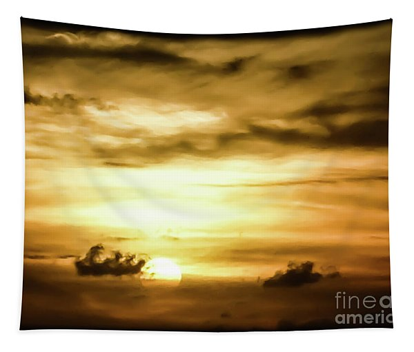 Sunset On The Pacific Ocean Tapestry