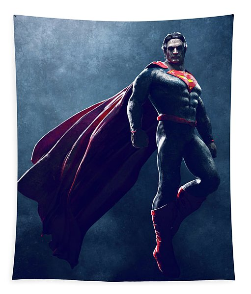 Superman Sketch 1 Tapestry