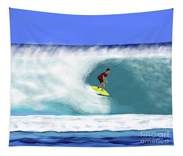 Surfer Dude Tapestry