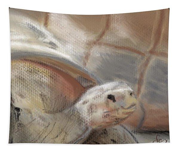 Tapestry featuring the digital art Sweet Tortoise by Fe Jones